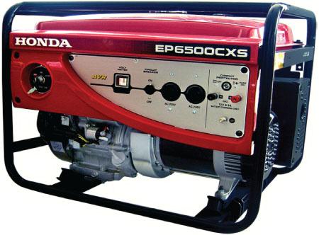 характеристика бензиновый электрогенератор honda ep 6500 cxs